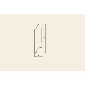 Плинтус массивный Дуб Рустик без покрытия