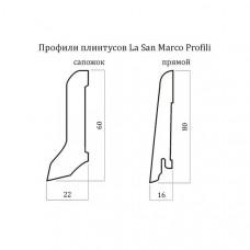 Плинтус шпонированный La San Marco Profili Афромозия