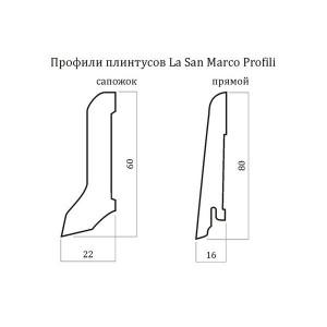 Плинтус шпонированный La San Marco Profili Бук Пропаренный